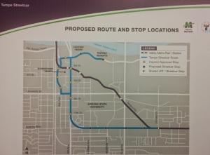 Tempe Streetcar Route