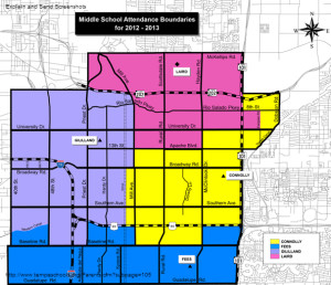 Tempe Middle school Boundaries 2012-2013