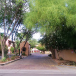 The Cottonwoods gated entrance