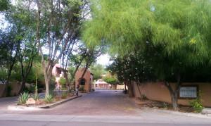 The Cottonwoods gated entrance