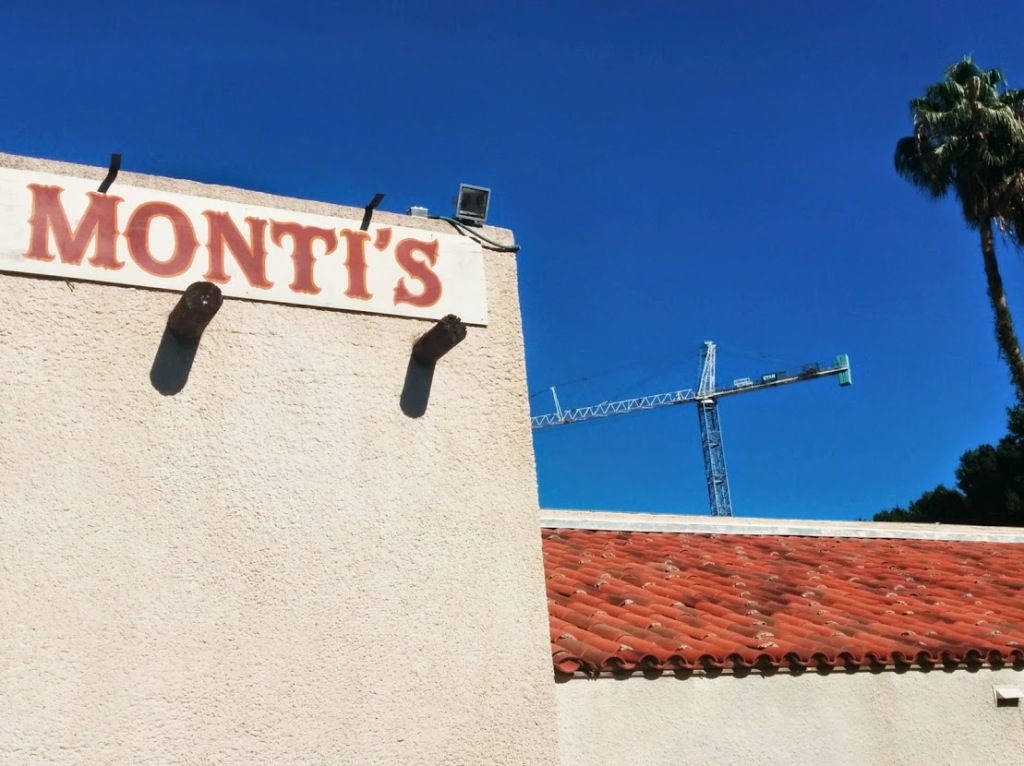 Crane at Monti's