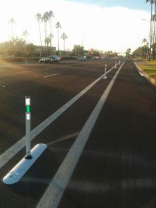 McClintock bike lane in Tempe