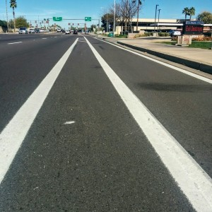 Tempe bike lane candlestick