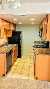 Rialto Condominium kitchen