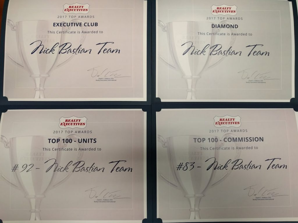 Nick Bastian Team sales awards