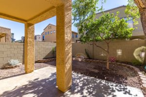 Villagio condo with large patio.