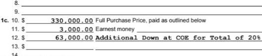 Down Payment Details Do Matter