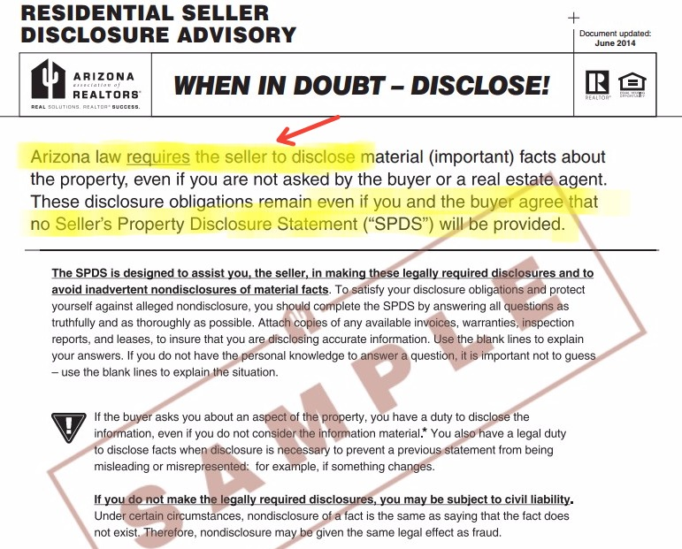 home seller must disclose