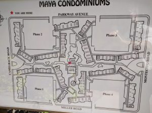 Maya Condominiums community map