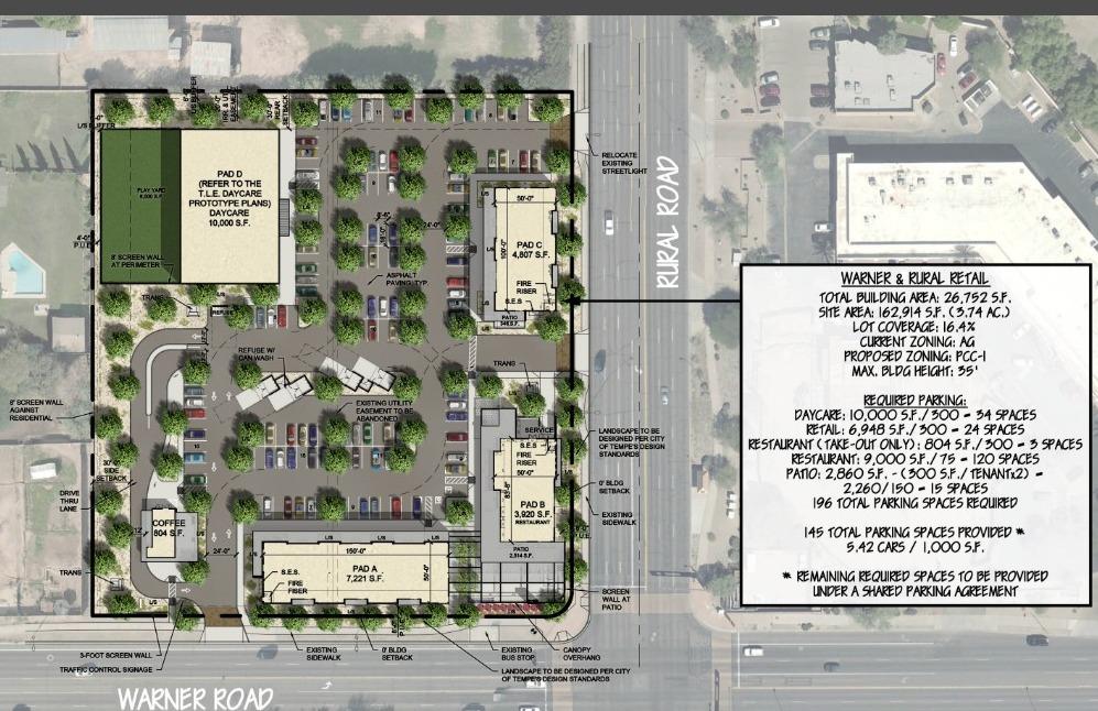 Warner and Rural site plan