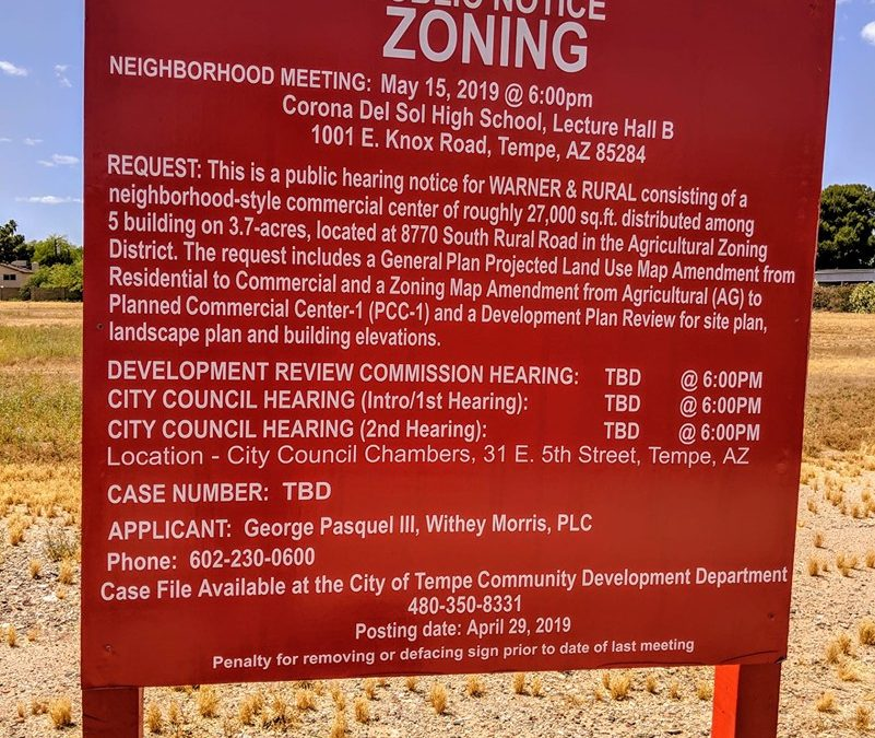 Rural and Warner public meeting notice
