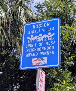 Robson Street Villas Neighborhood award