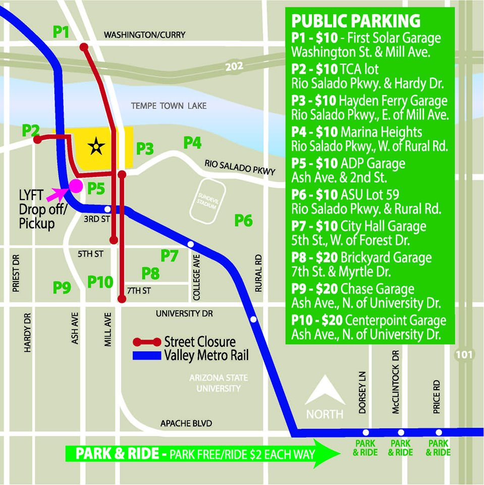 Tempe Fourth of July Parking