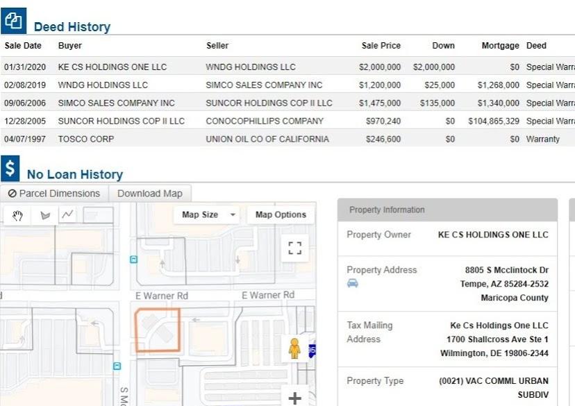 McClintock and Warner sale