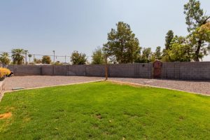 large lot with RV gate