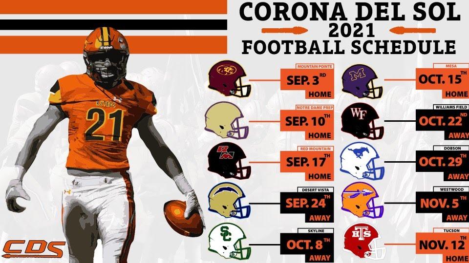 Corona Del Sol Football Schedule